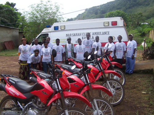 NarSarah Staff in the fight against Ebola in Koinadugu.