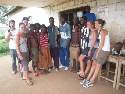 The team with the blind students